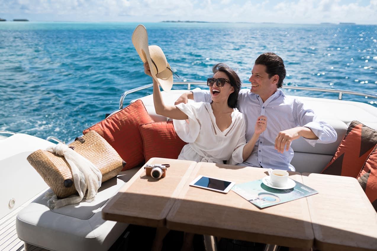 Passeio barco Nirvana, Anantara Dhigu, Ilhas Maldivas