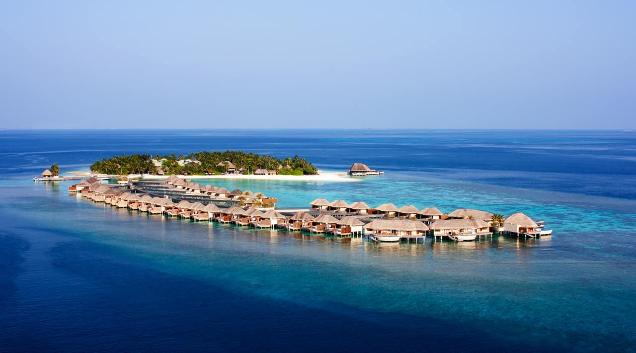 Vista aérea, W Retreat Spa Maldives, Ilhas Maldivas