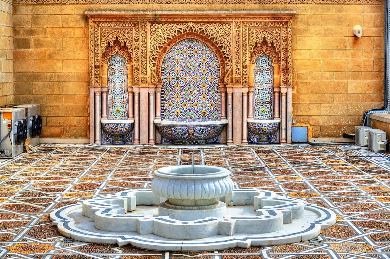 Fonte do Mausoléu Mohamed V - Rabat, Marrocos.