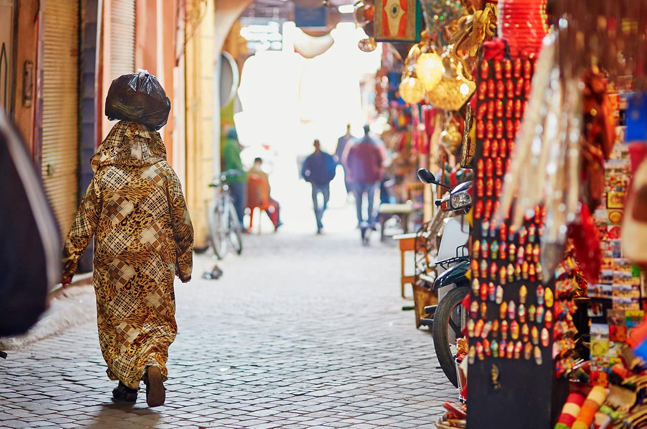 Mercado Marroquino (souk), Marrakech, Marrocos