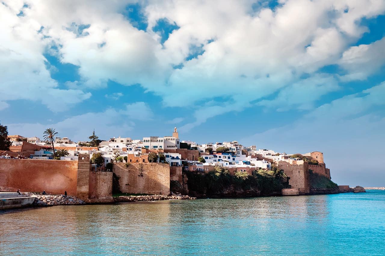 Vista da cidade de Rabat