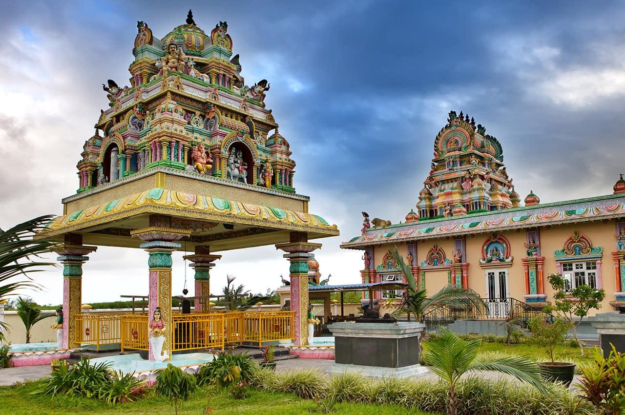 Templo Hindu nas Ilhas Mauricio