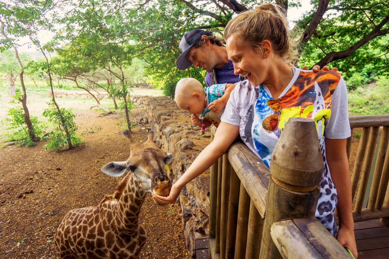 Viagem família Ilhas Maurício passeios safári Casela Parque