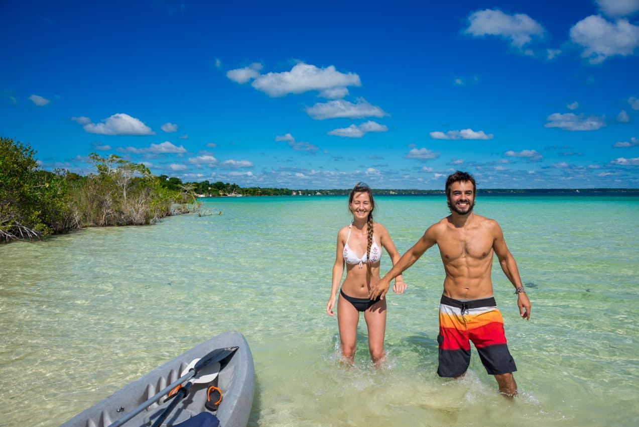 Casal praia lua de mel, Rriviera Maia, Quintana Roo, México