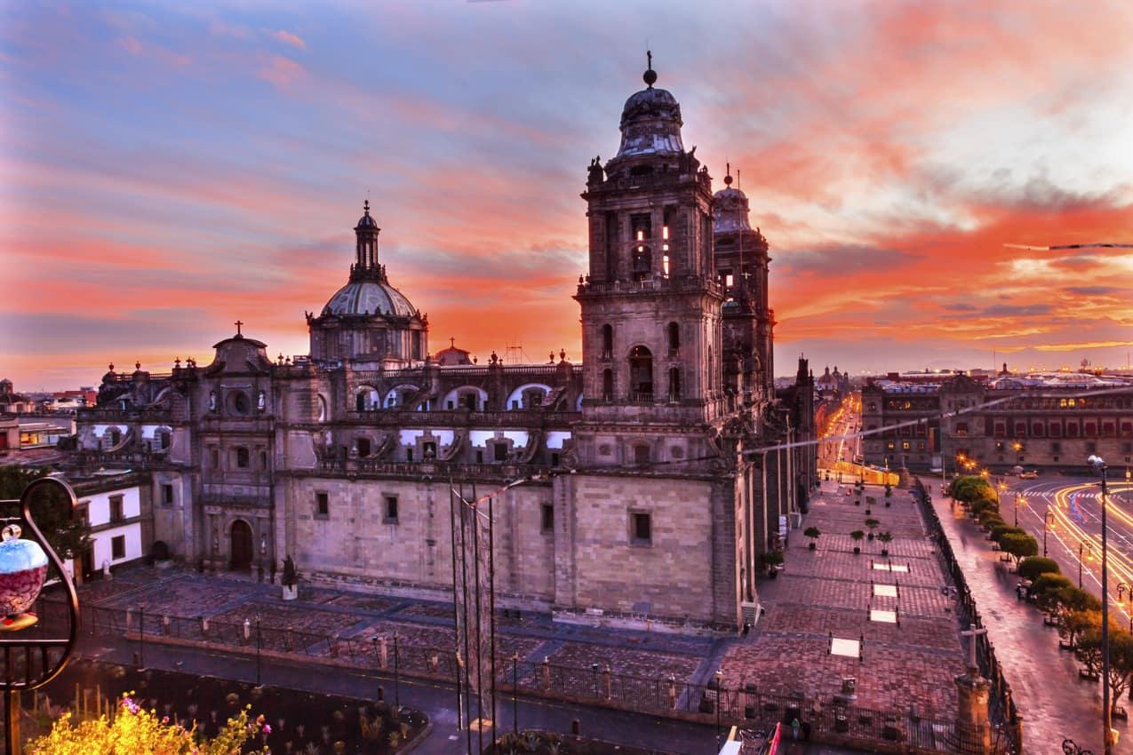 Viagem México: atrações turísticas Catedral Metropolitana Palácio Presidente, Cidade México
