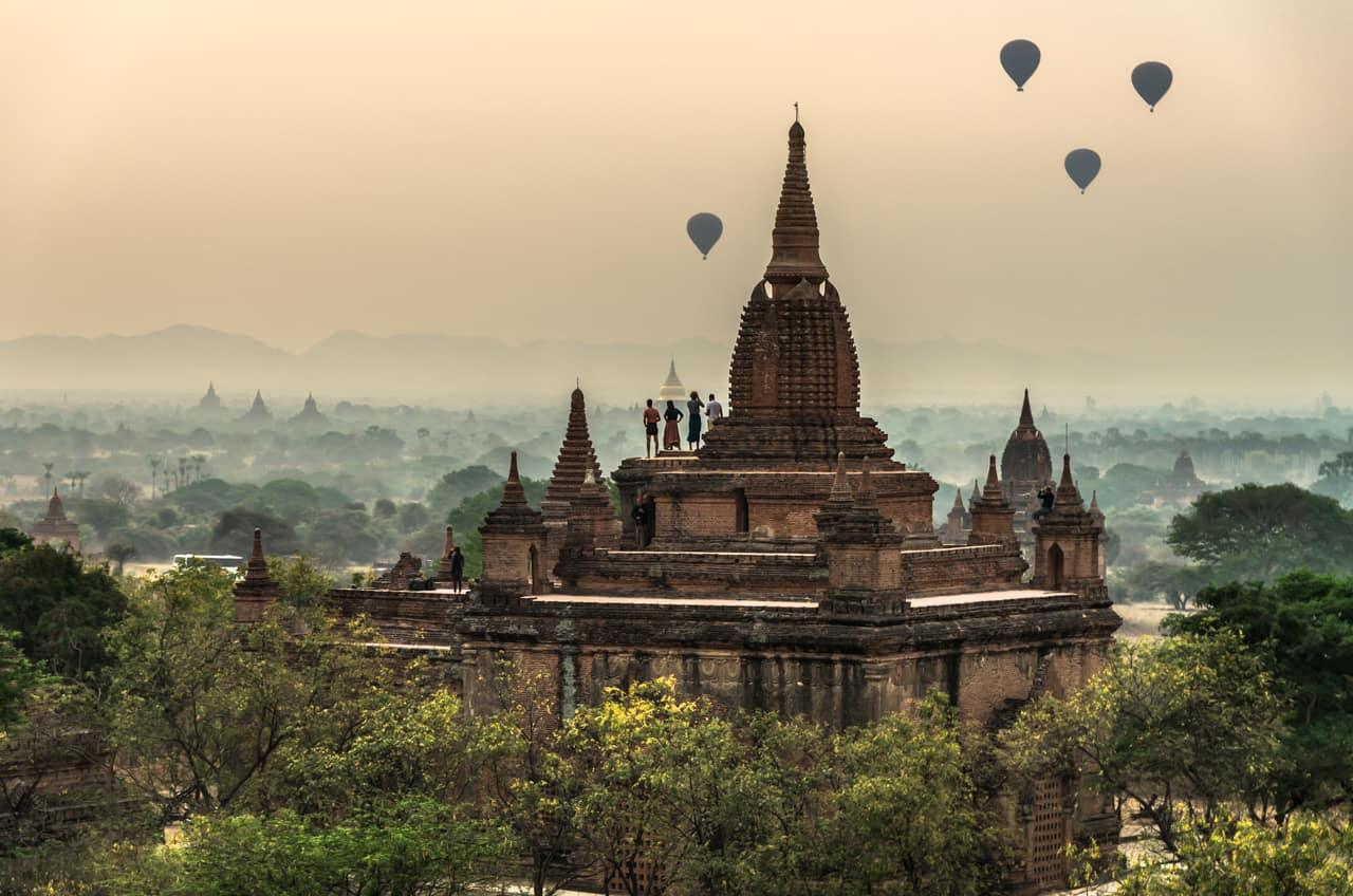 Pacote Myanmar passeio balão Bagan, Mandalay