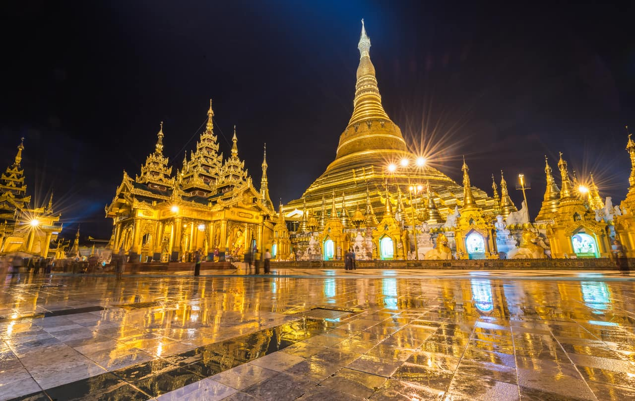 Ponto turístico Myanmar, Pagoda Shwedagon, Yangon