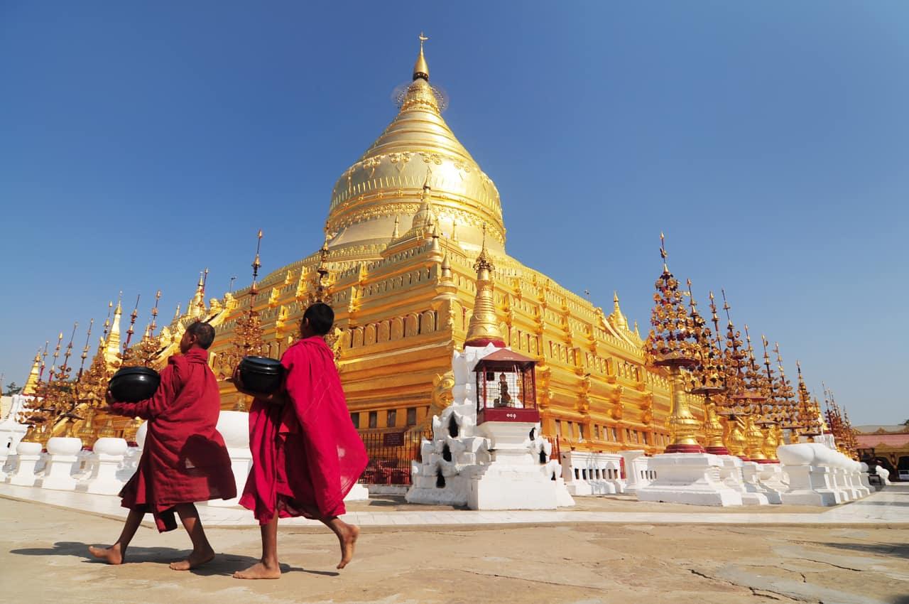Turismo Myanmar, Templo Shwezigon, Paya, Bagan