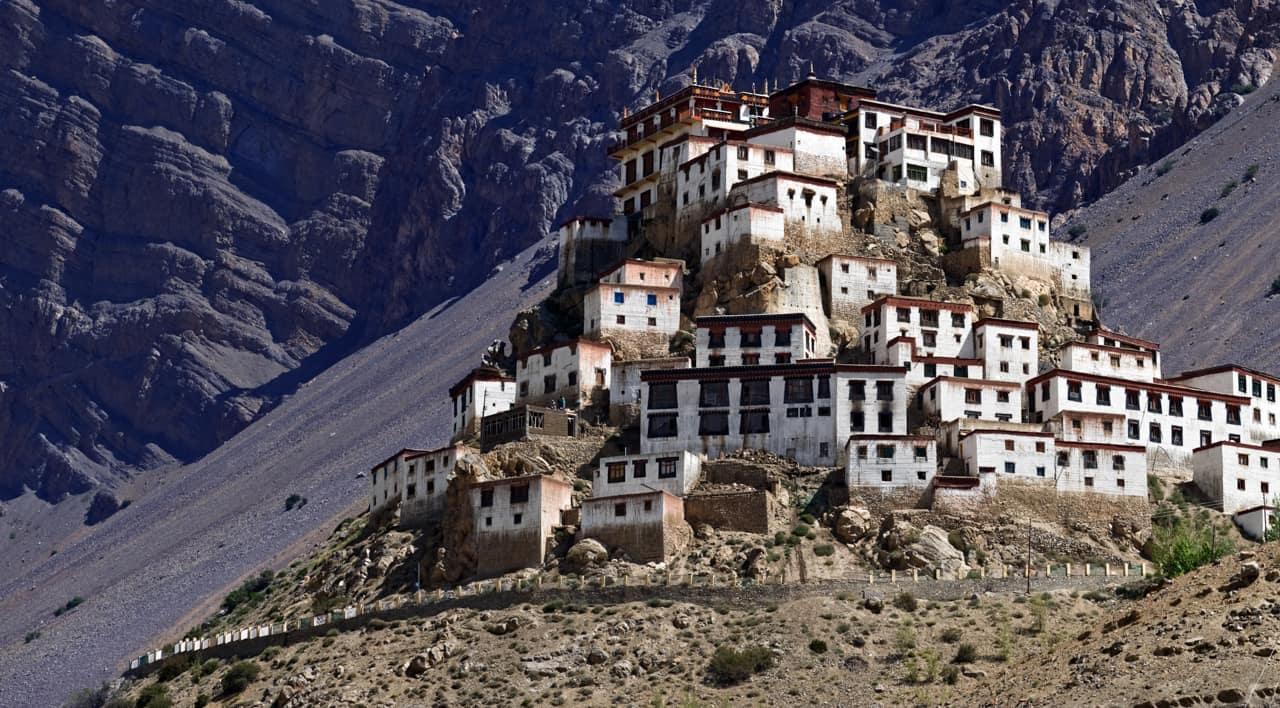 Atração turística Monastério Kee, Himalaia, Nepal