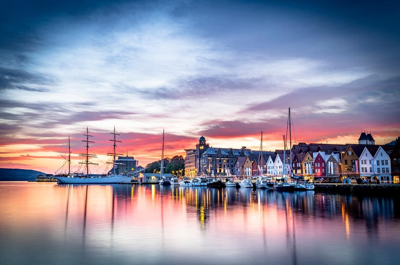 Bryggen em Bergen, Noruega