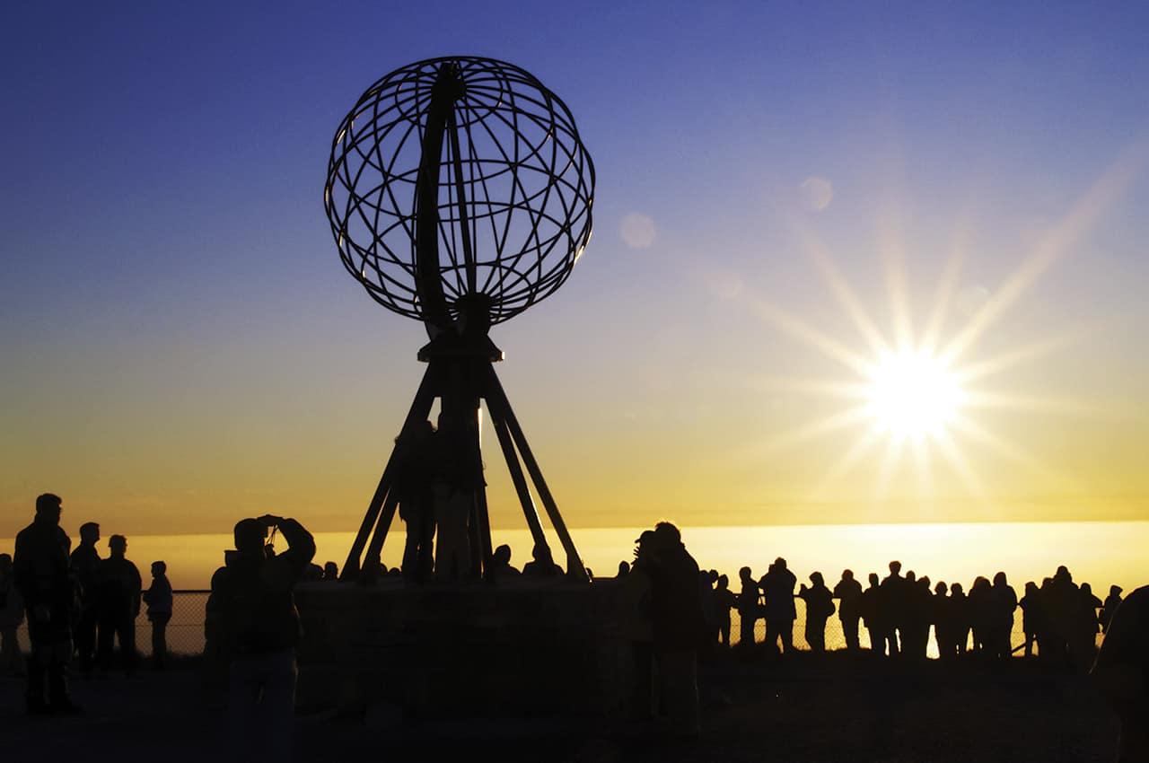 O famoso sol da meia noite