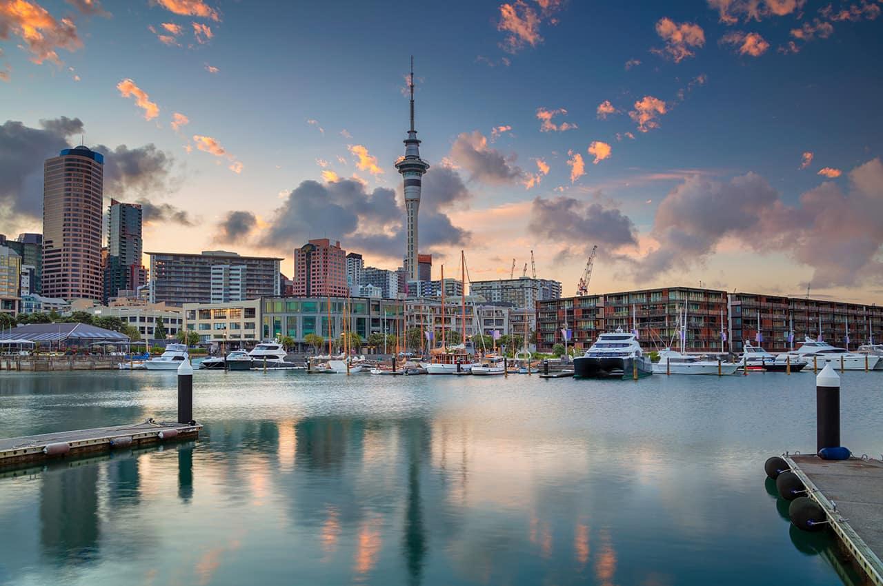 Vista da cidade de Auckland