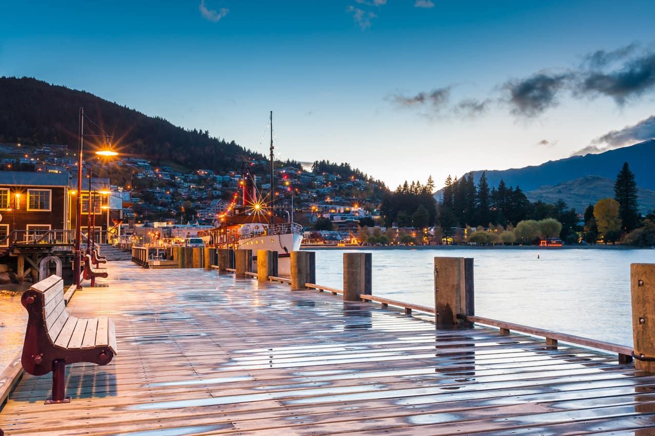 Itinerário Lago Wakatipu, Queenstown, Nova Zelândia