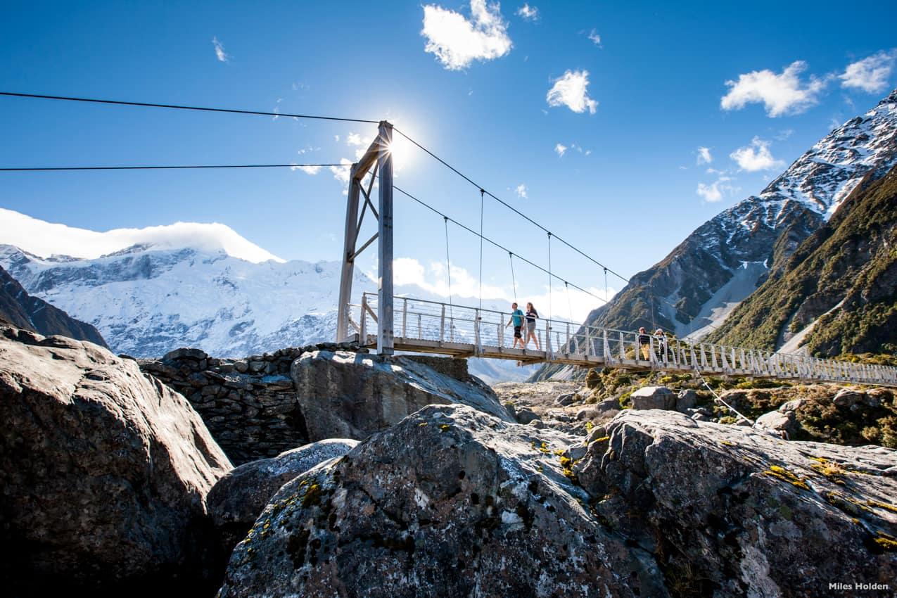 Pacote Nova Zelândia, Hooker Valley, Parque Nacional Mount Cook, Canterbury - Fotógrafo Miles-Holden