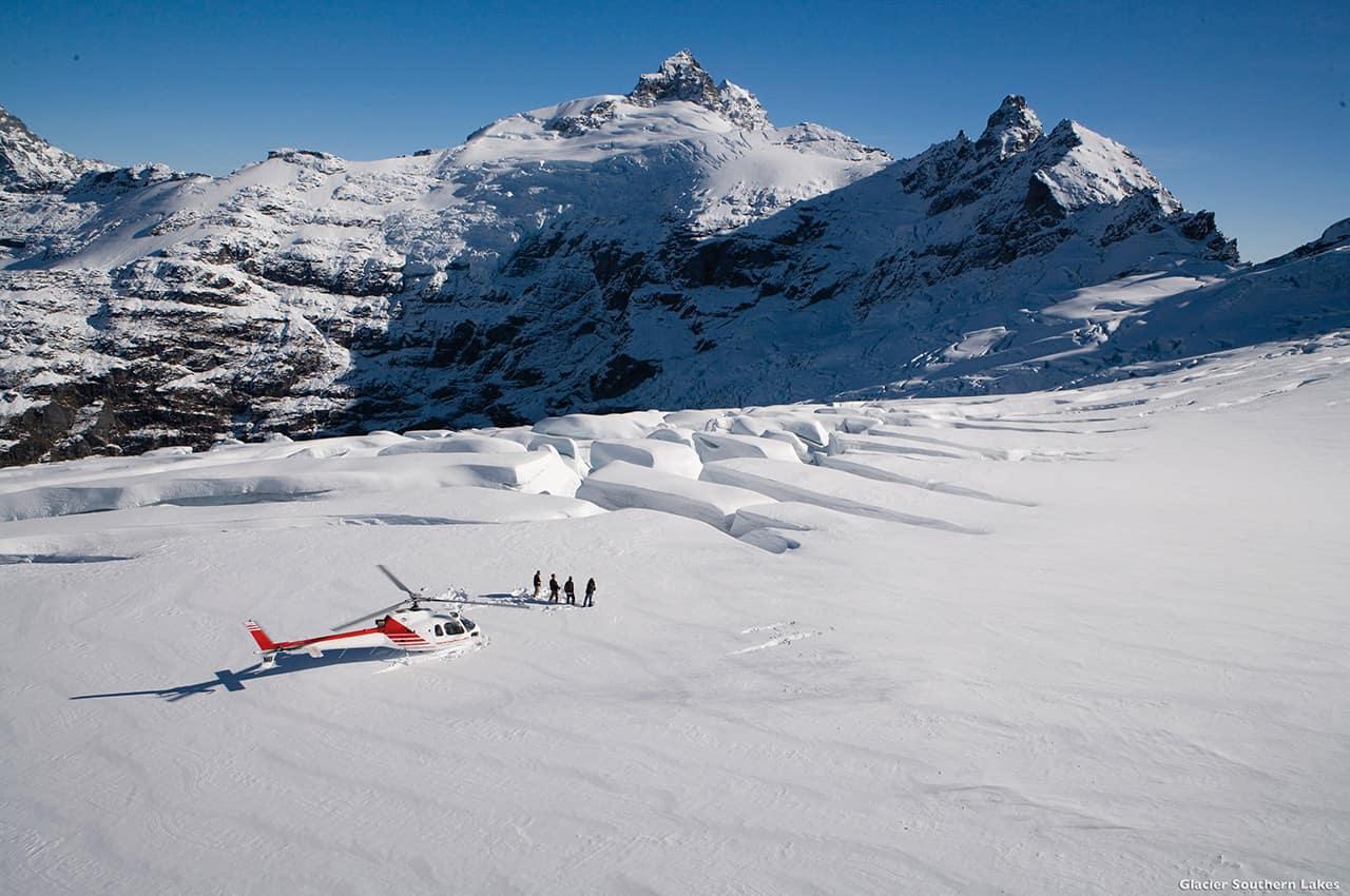 Passeio helicóptero glaciares, Nova Zelândia