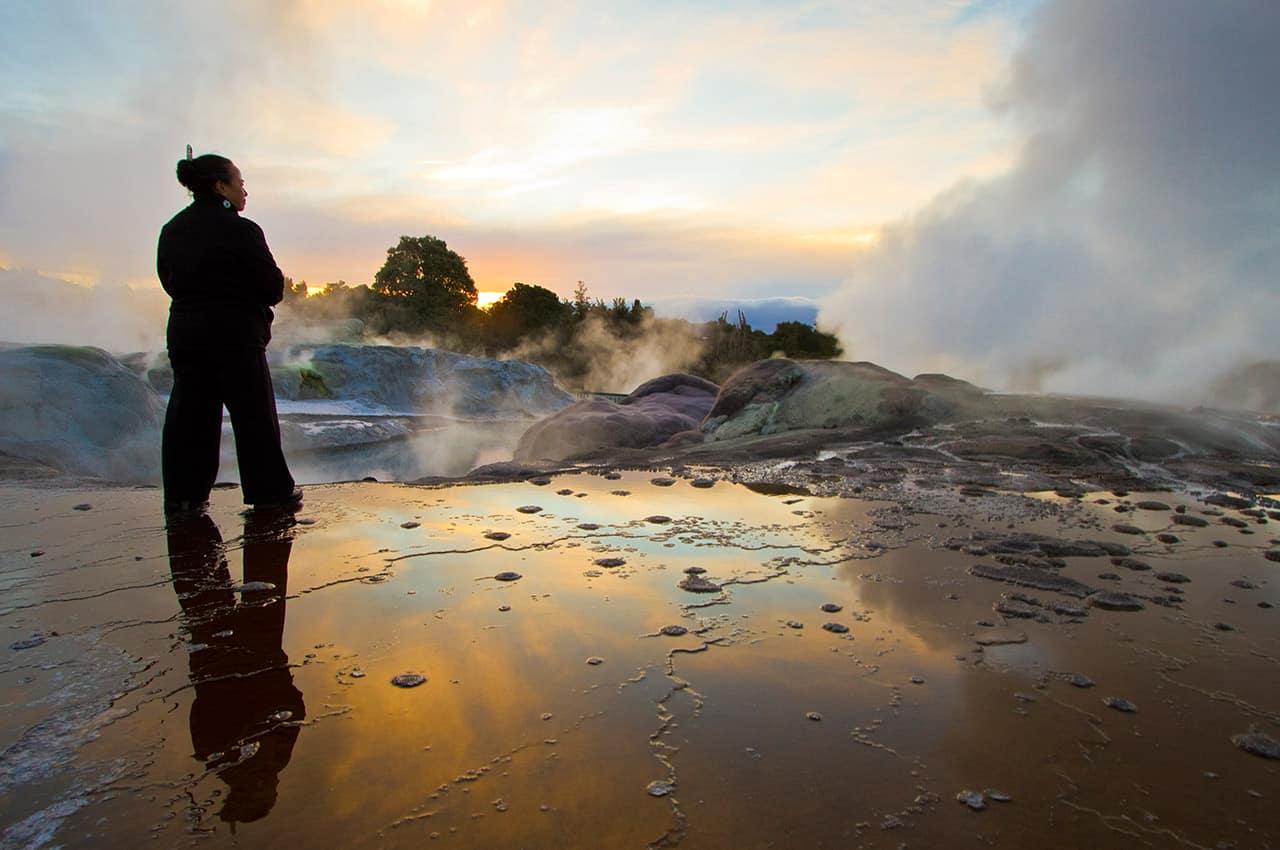 Reserva termal, Rotorua, Nova Zelândia
