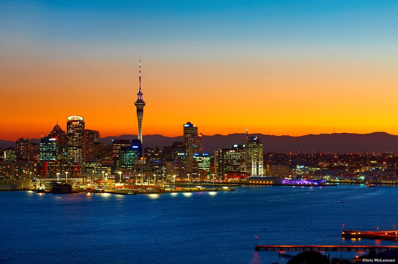 Vista de Auckland, Nova Zelânda