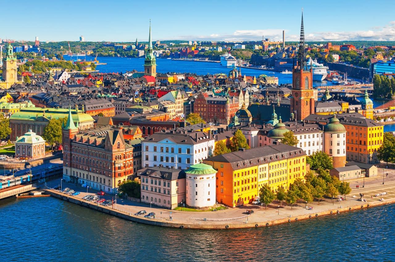 Old Town Gamla Stan em Estocolmo