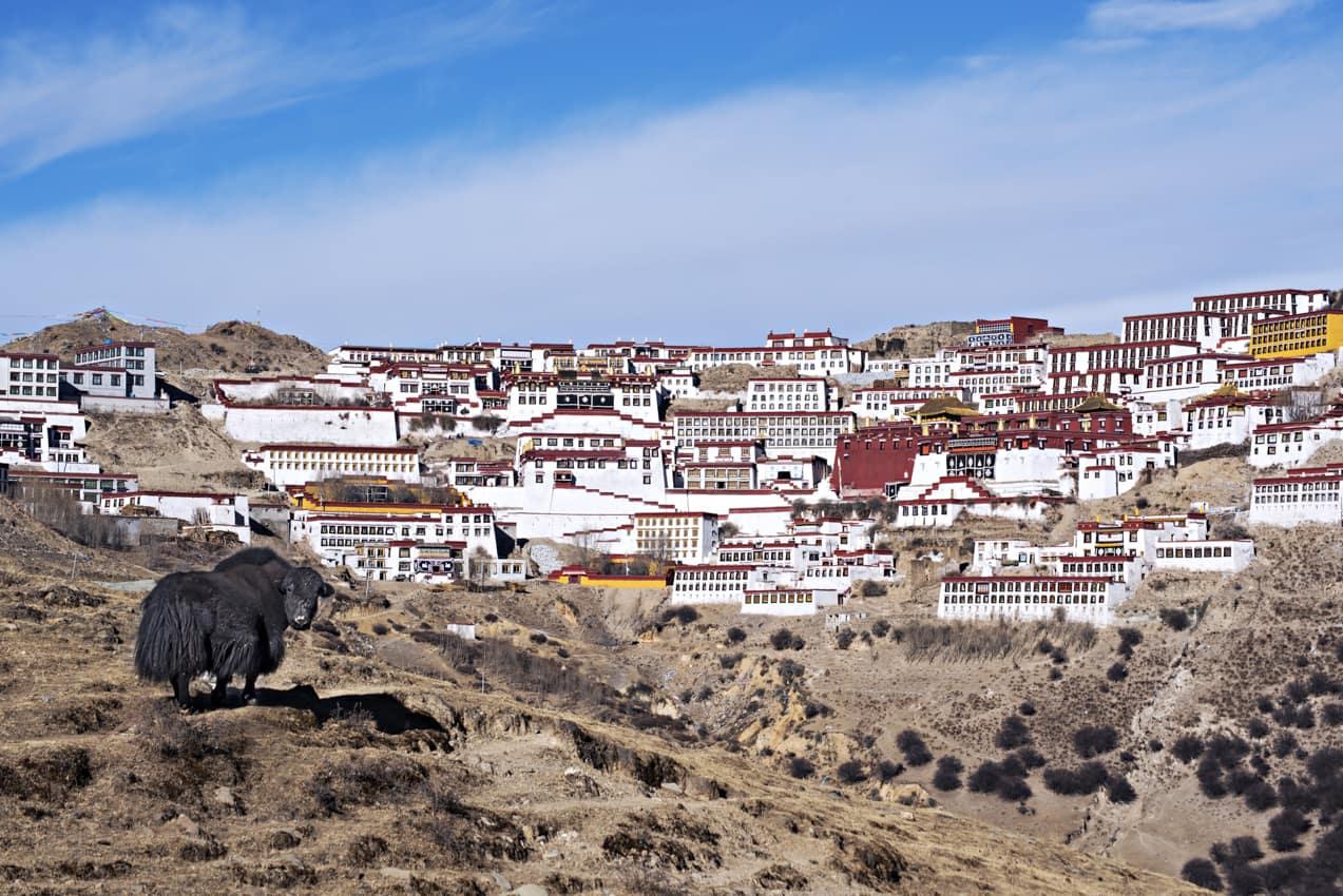 Ponto turístico: Monastério Ganden, Tibete