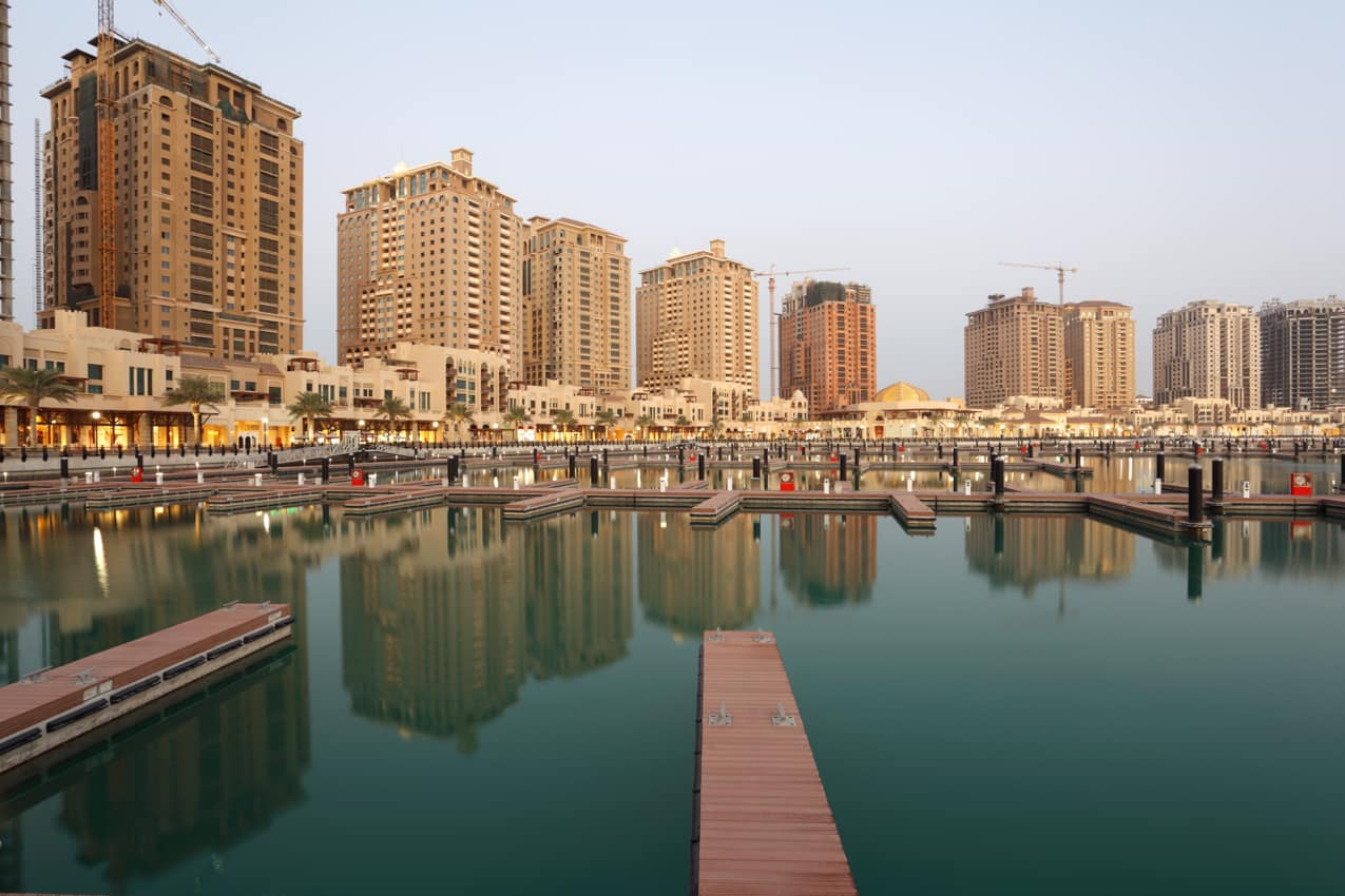 Ponto turístico marina The Pearl, Doha, Qatar