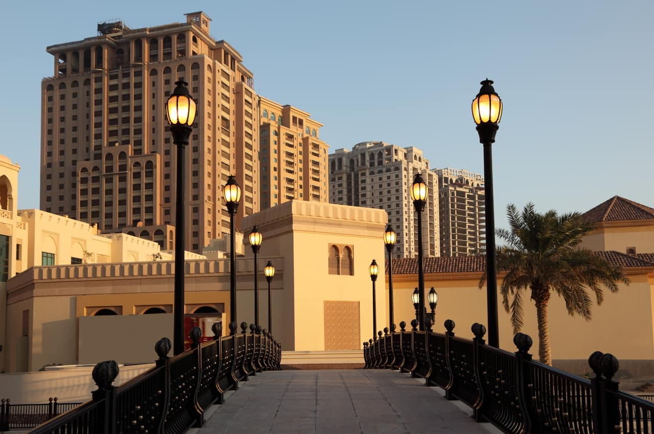 Prédios arquitetura, The Pearl, Doha, Qatar