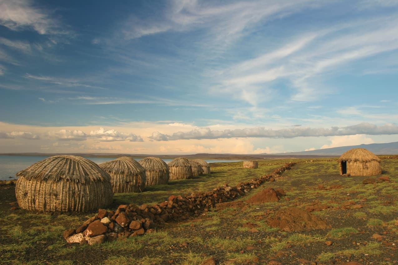 Cultura aldeia Turkana Quênia