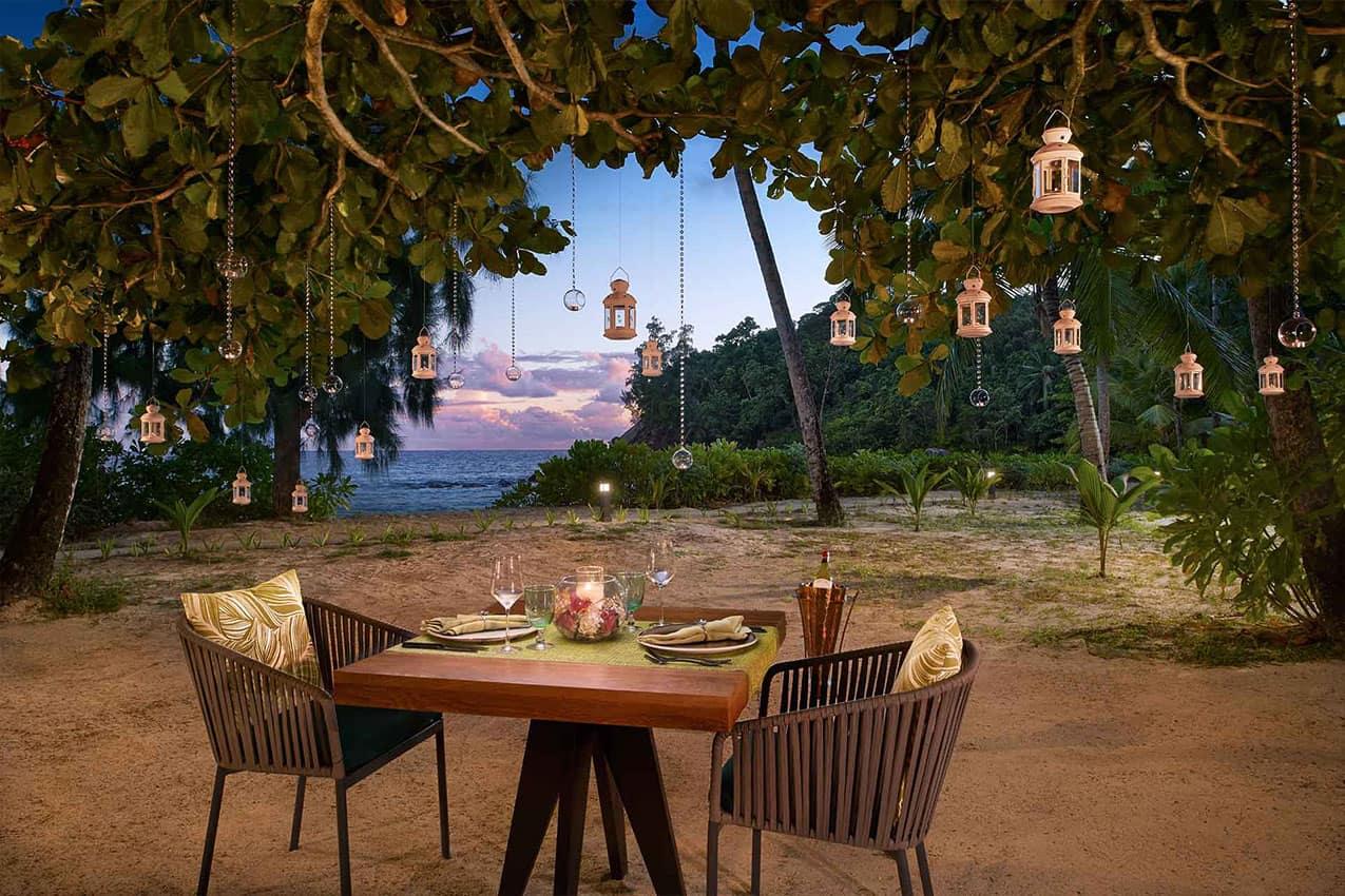 Jantar privado Avani Seychelles Barbarons