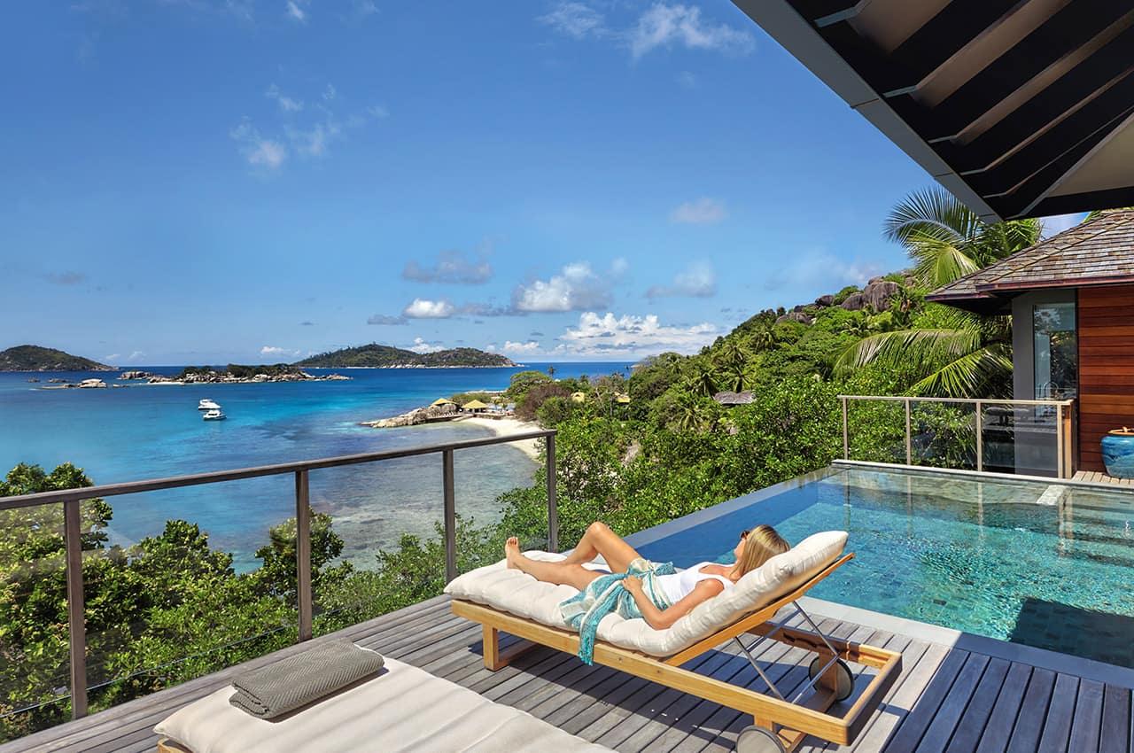 Ocean Front Pool Villa Deck, Six Senses Zil Pasyon