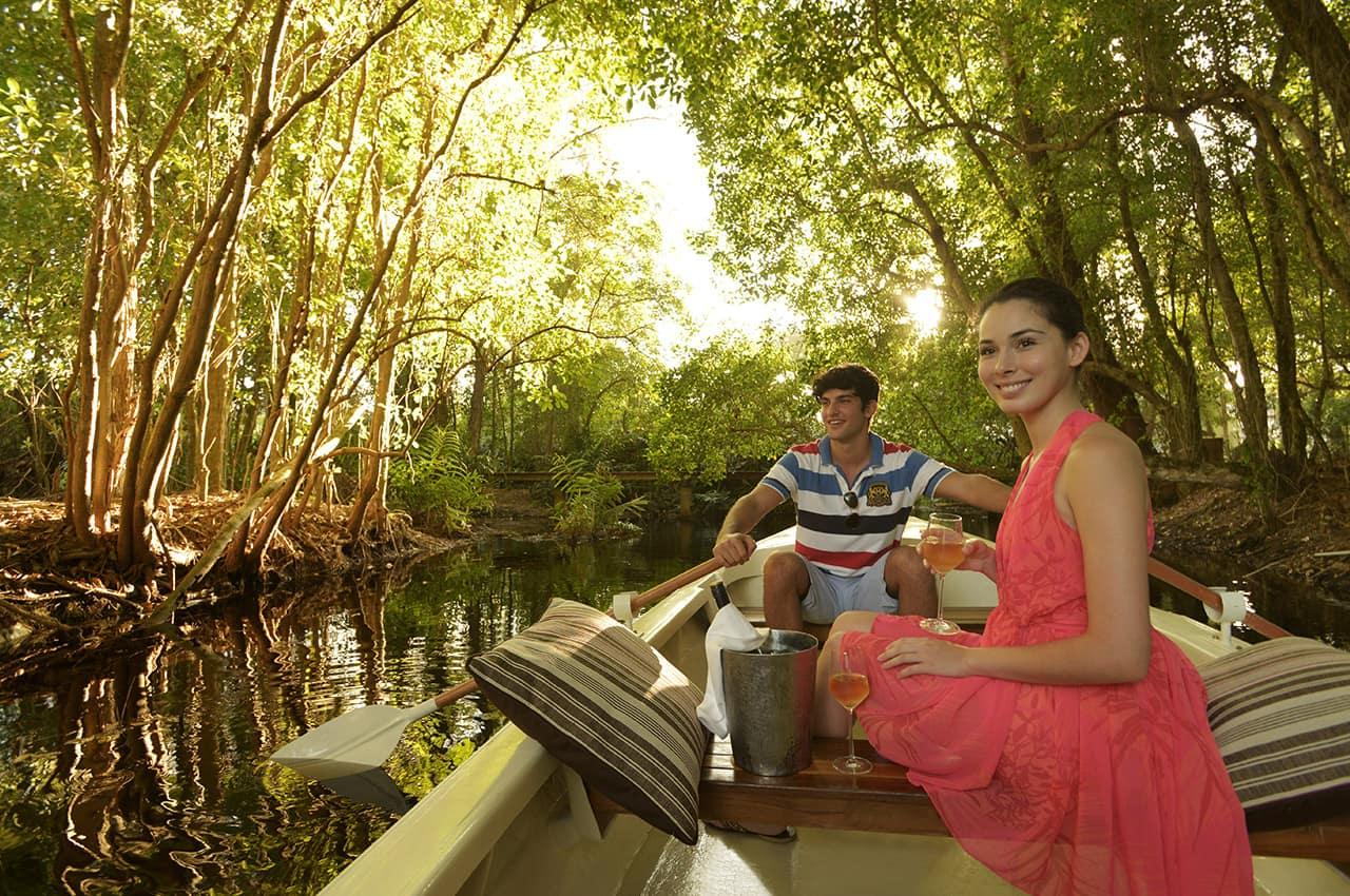 Passeio barco na lagoa, Banyan Tree Seychelles