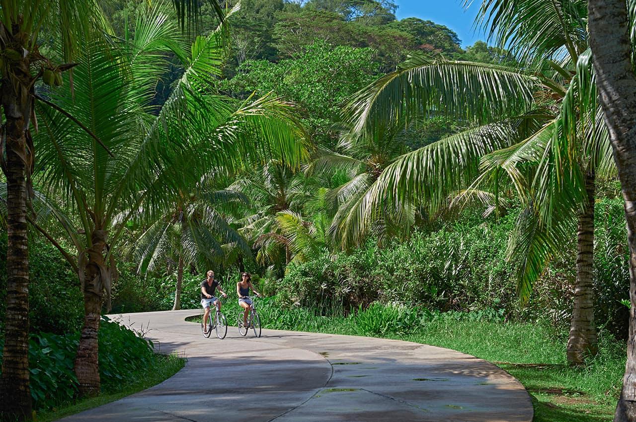Passeio de bicicleta, Banyan Tree Seychelles