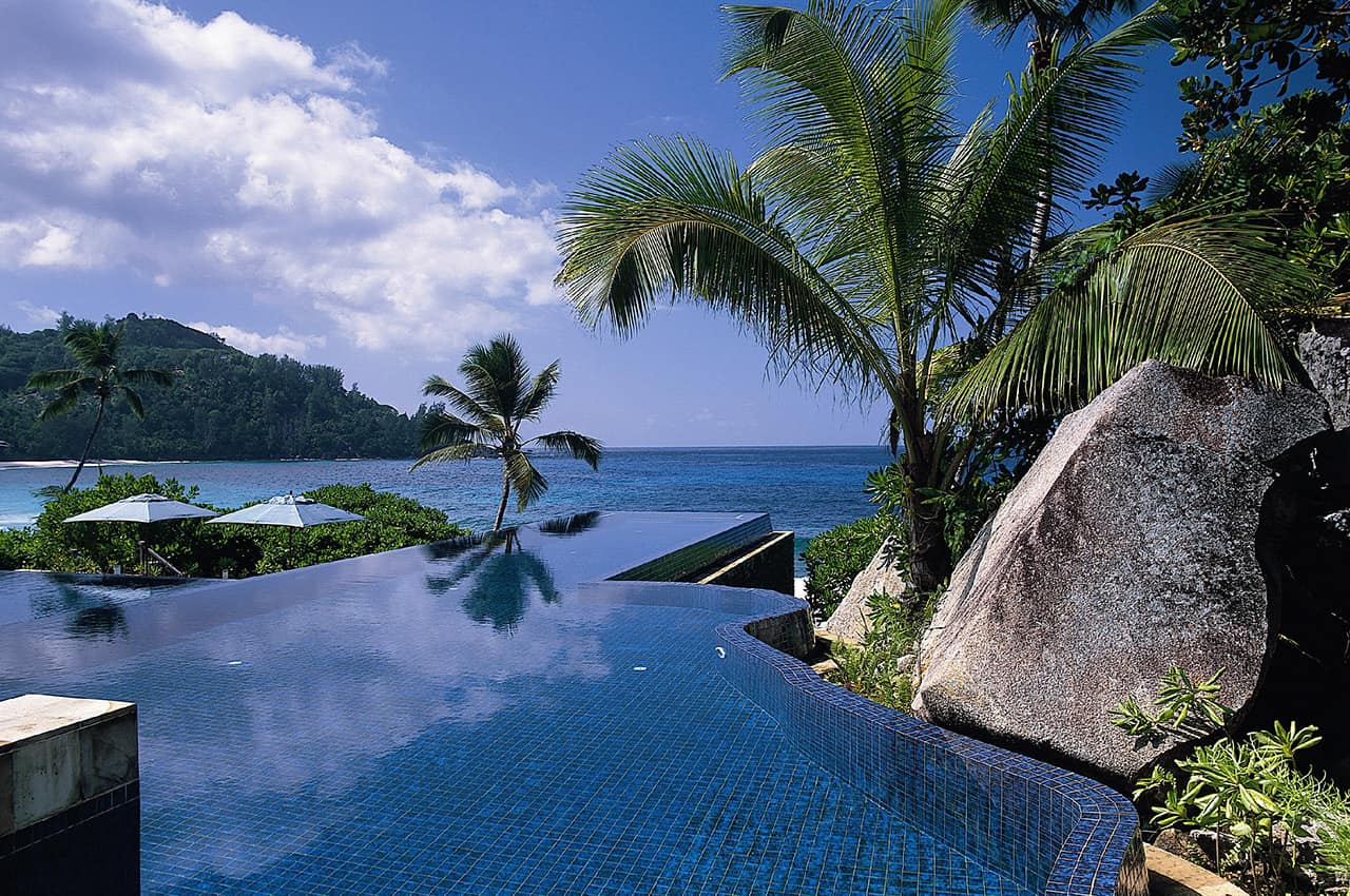 Piscina infinita, Banyan Tree Seychelles