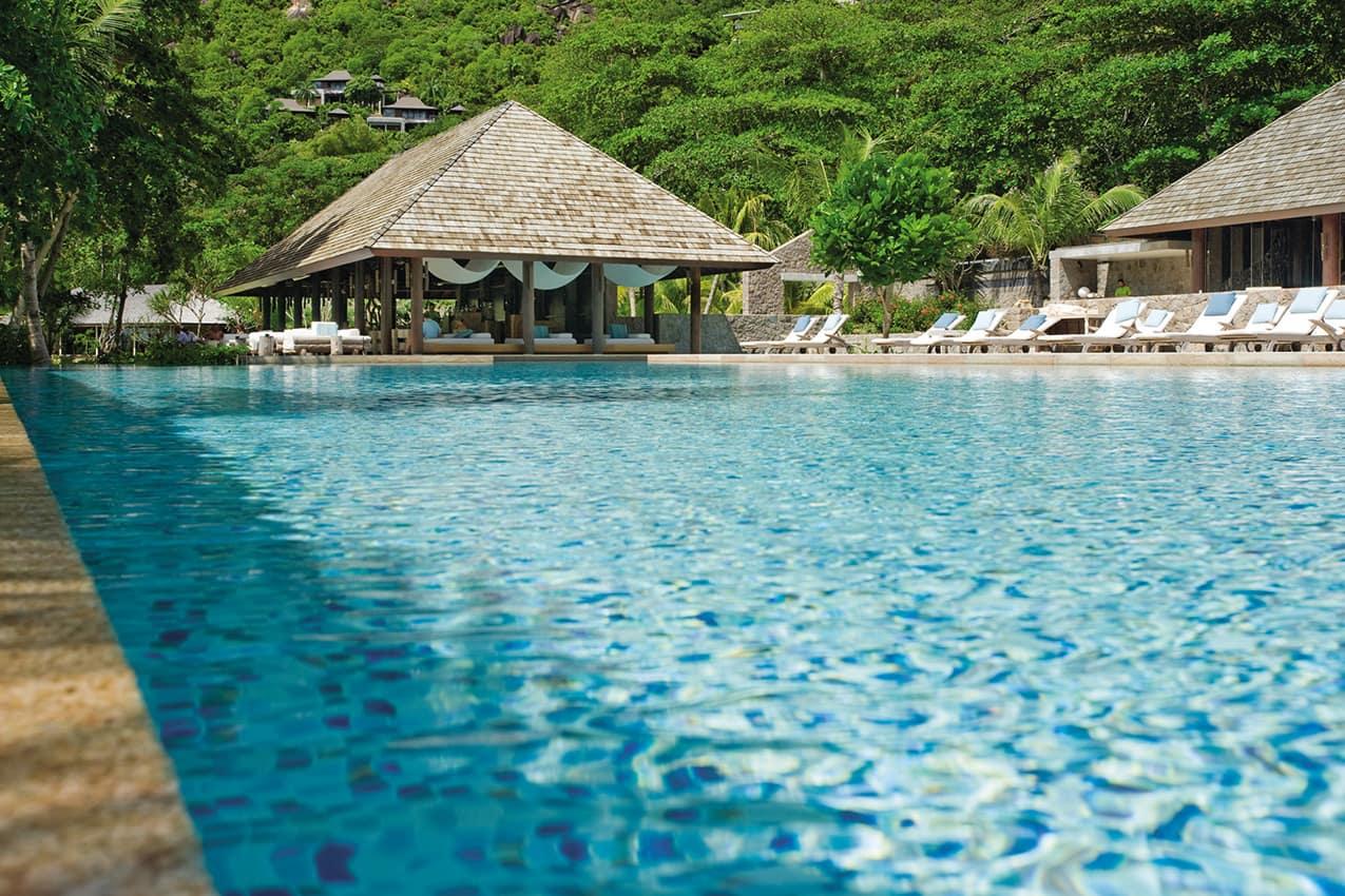 Piscina principal, Four Seasons Seychelles