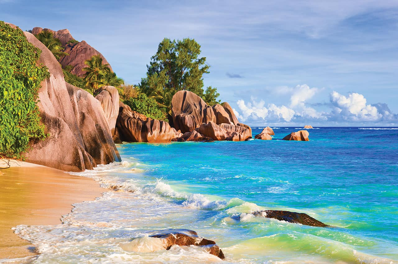 Praia em Seychelles