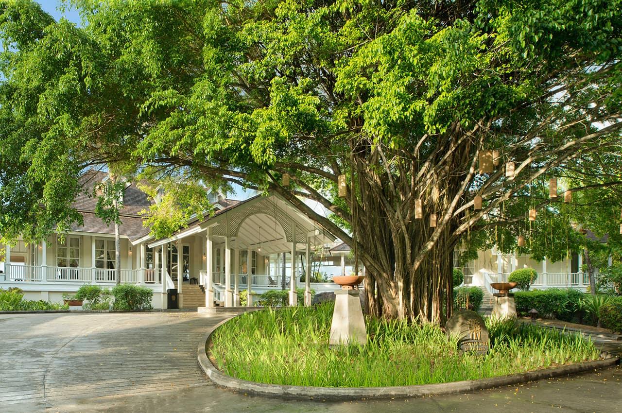 Prédio entrada principal, Banyan Tree