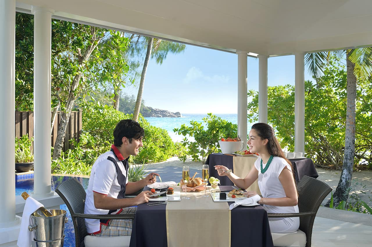 Refeição na villa, Banyan Tree Seychelles