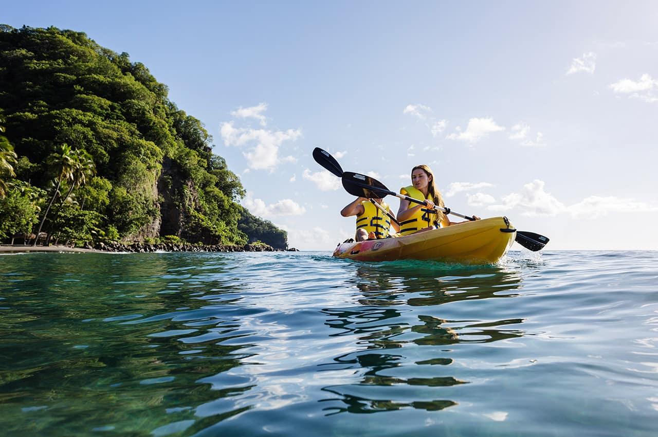 Atividade aquática em St. Lucia