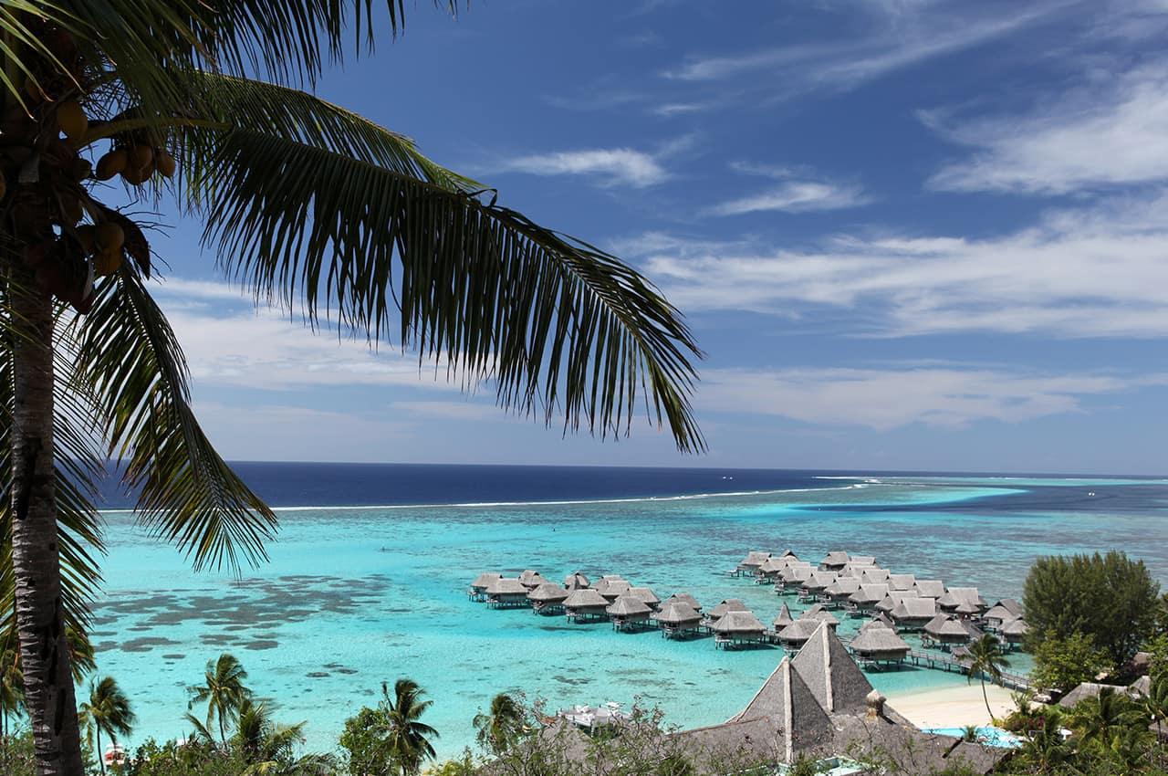 Vista aérea do Sofitel Moorea Ia Ora Beach Resort