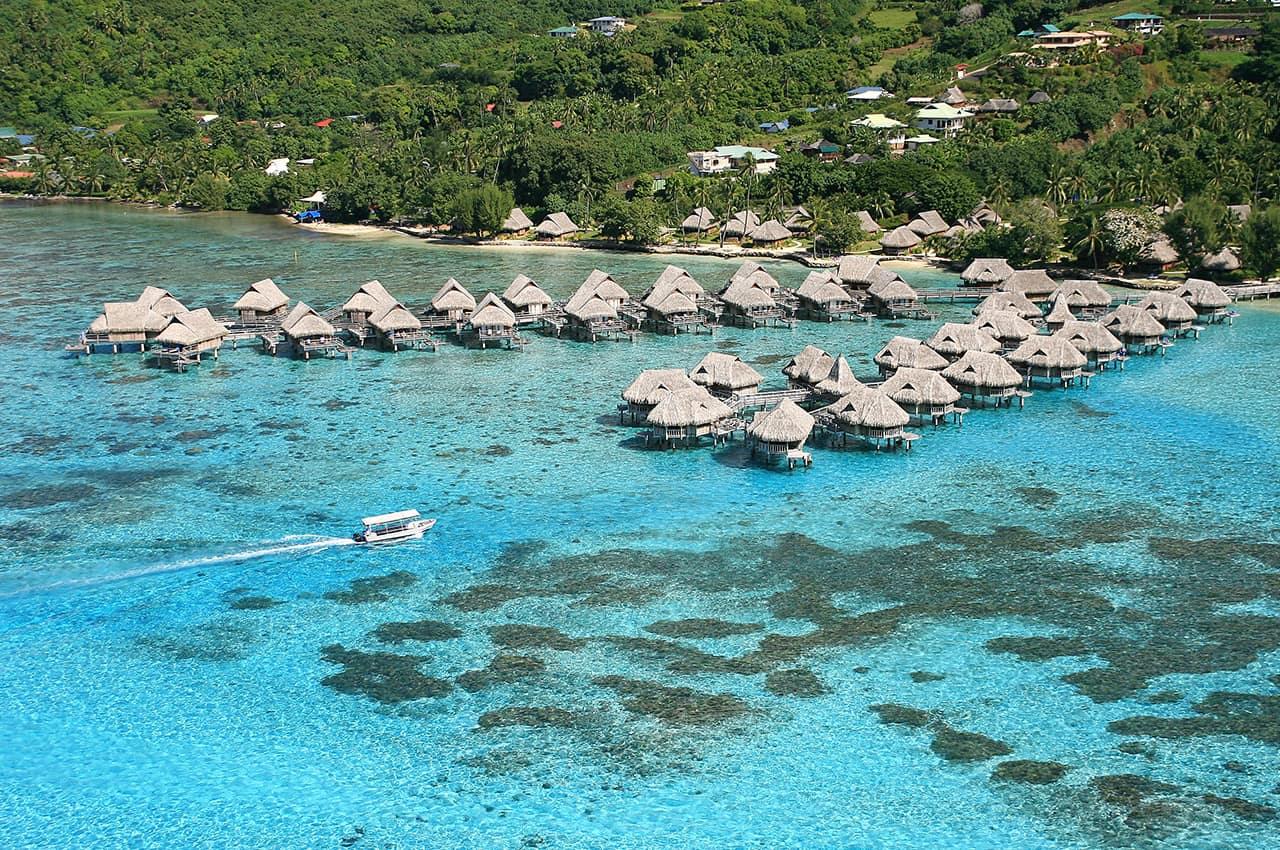 Vista aérea do Sofitel Moorea Ia Ora Beach