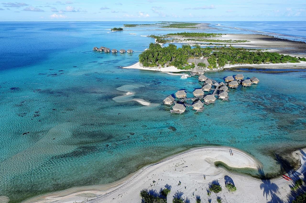 Vista aérea no Tikehau Pearl Beach Resort