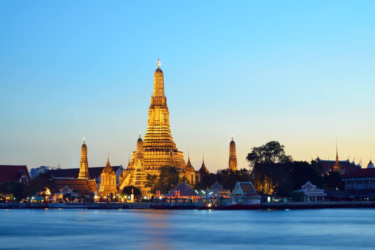 Atração turística Templo Wat Arun Bangkok, Tailândia