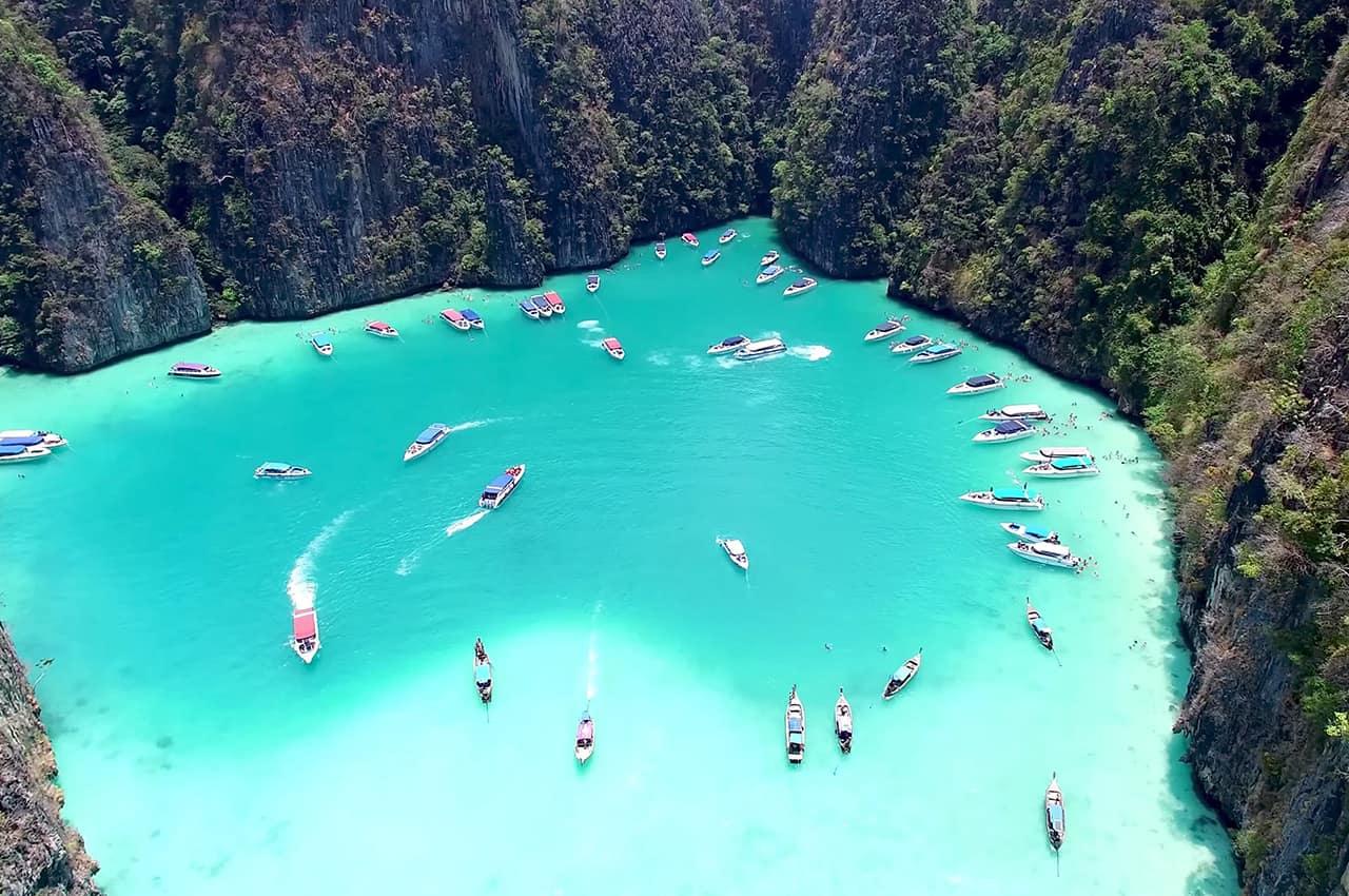 Lagoa pileh phi phi tailandia