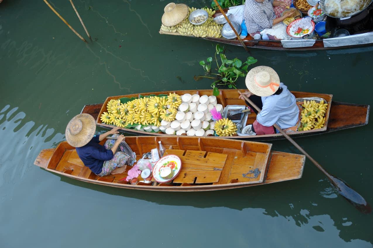 Mercado Flutuante, Ratchaburi, Viagem Tailândia