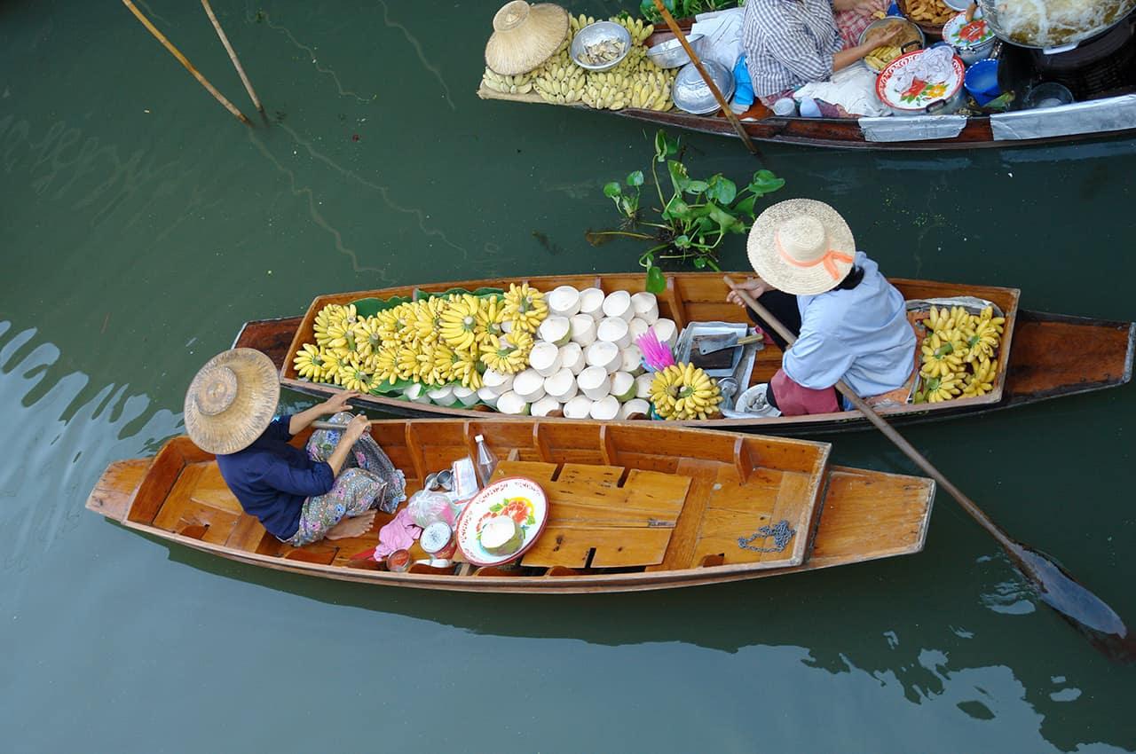 Mercado flutuante - Ratchaburi