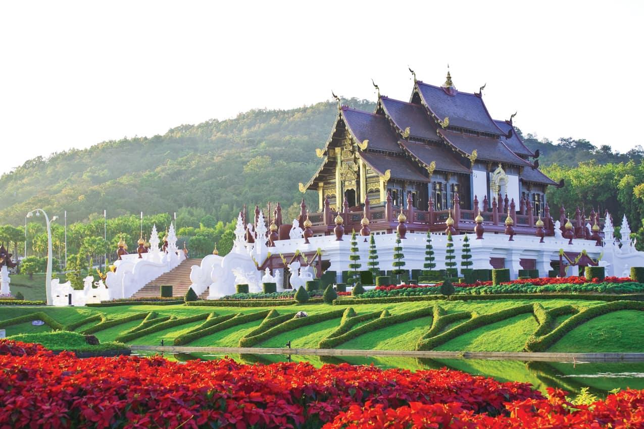 Ponto turístico Golden Hall, Chiang Mai, Tailândia