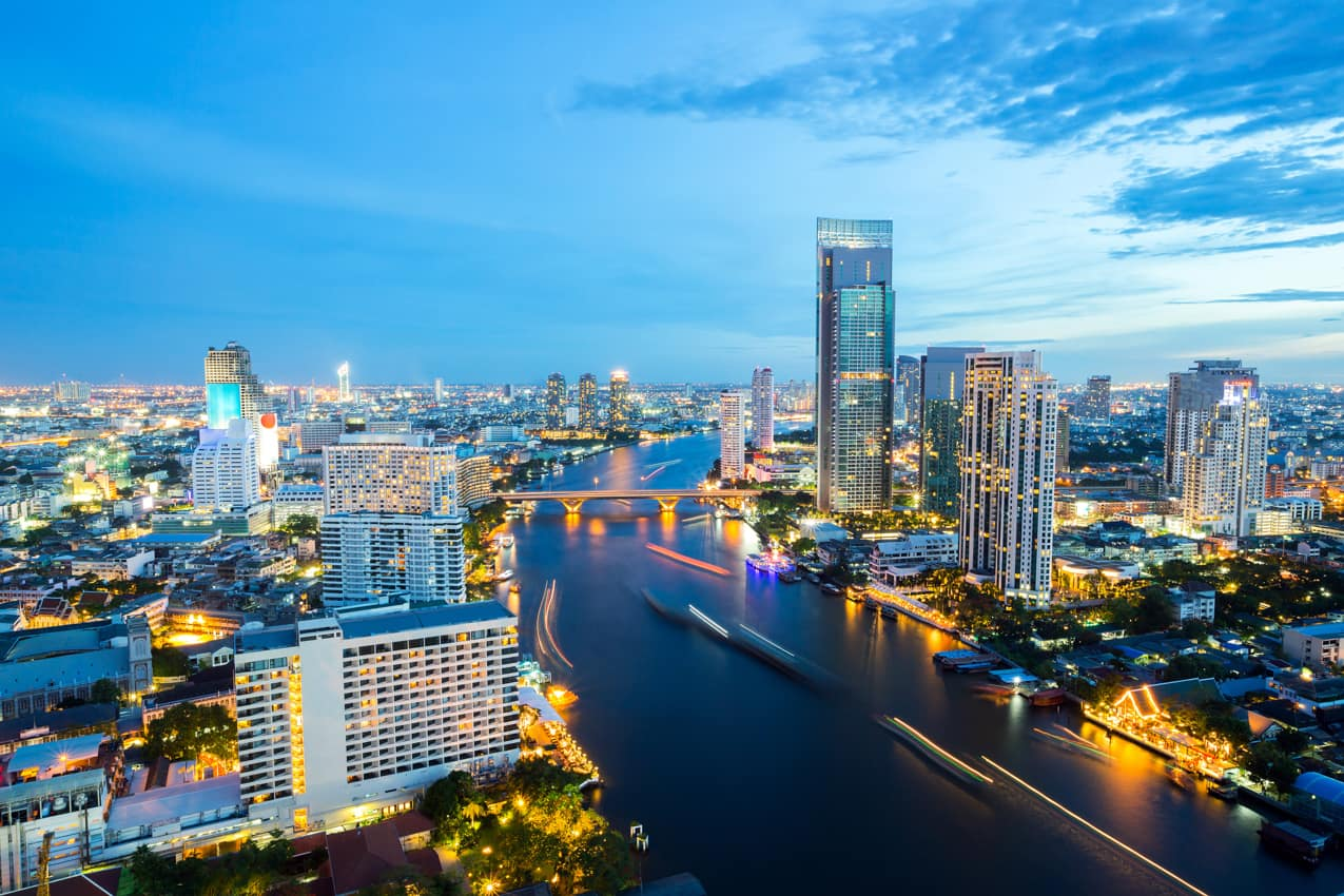 Vista aérea Bangkok, Tailândia