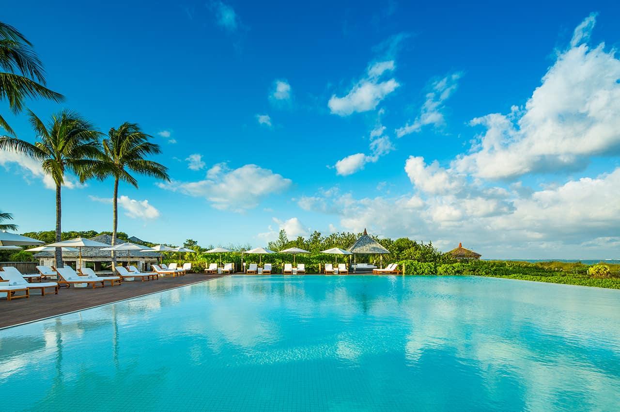 Piscina principal, Parrot Cay, Providenciales, Turks and Caicos Hotel