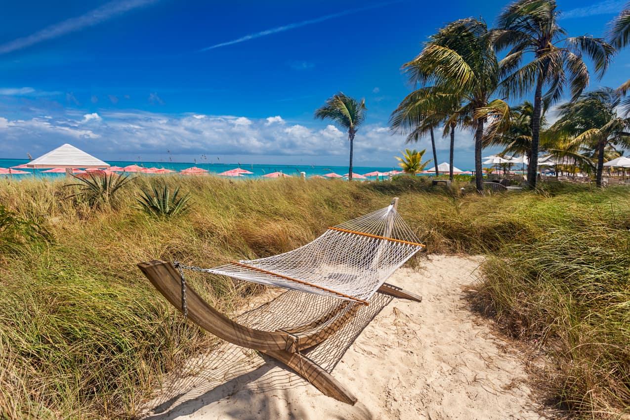 Rede praia Grace Bay, Turks and Caicos