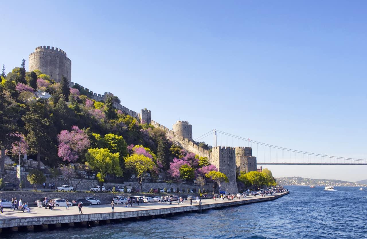 Atração turística Ponte Bósforo, Istambul, Turquia