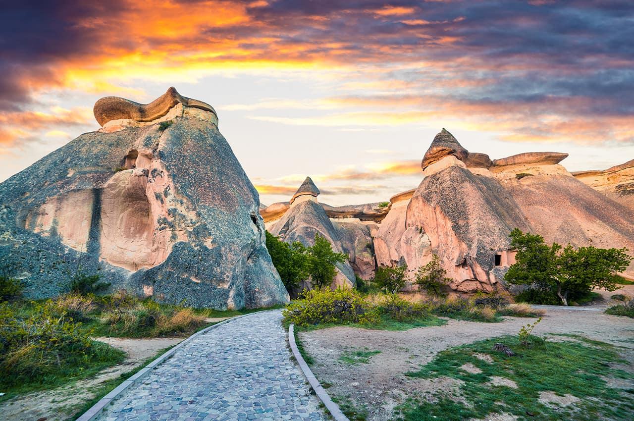 Cânion próximo a Cavusin - Capadócia, Turquia.