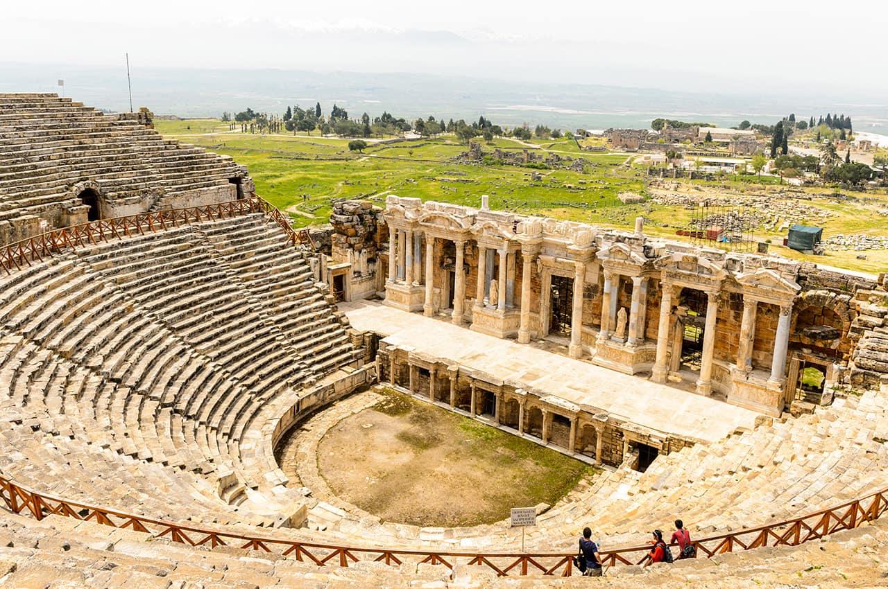 Ponto turístico, Anfiteatro, Pamukkale, Turquia Turismo